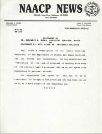 NAACP News Statement, August 3, 1990