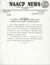 NAACP News Statement, August 3, 1990