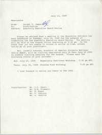 Charleston Branch of the NAACP Memorandum, July 13, 1989