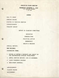 Agenda, Charleston Branch of the NAACP, Executive Board Meeting, August 25, 1988