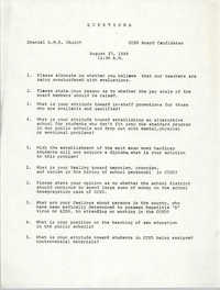 Charleston County School District Questions, August 27, 1988