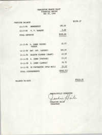 Charleston Branch of the NAACP Financial Report, December 18, 1986