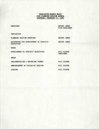 Agenda, Charleston Branch of the NAACP, February 27, 1988