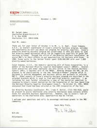 Letter from B. L. Hilton to Dwight James, November 1, 1991