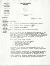 Charleston Branch of the NAACP Memorandum, October 31, 1990