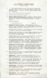 South Carolina Conference of Branches of the NAACP Minutes, May 12, 1990