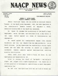 NAACP News Statement, July 3, 1990