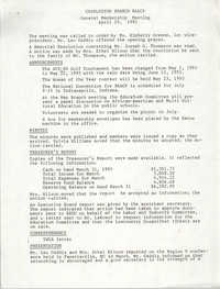 Minutes, Charleston Branch of the NAACP General Membership Meeting, April 29, 1993