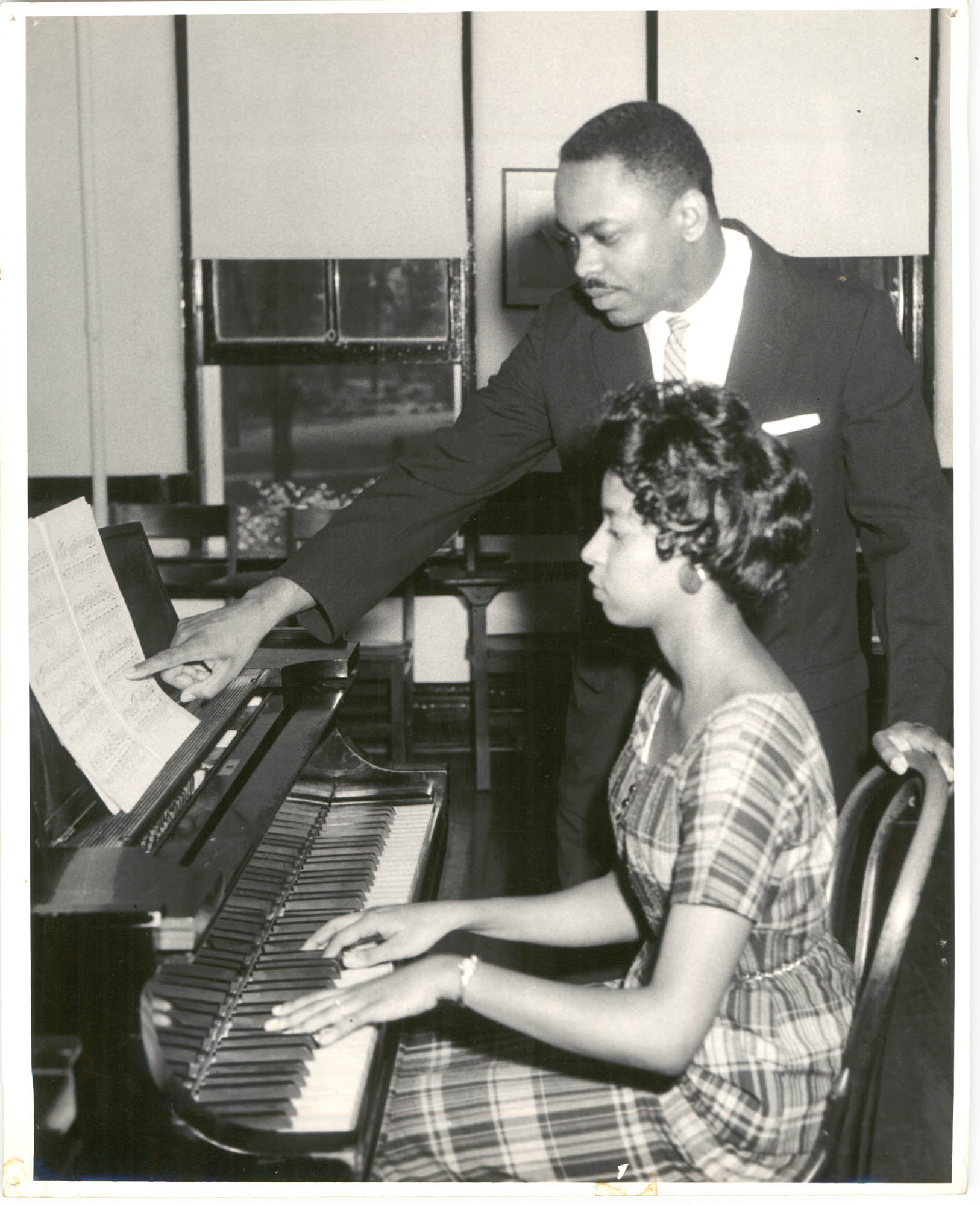 Photograph of a Piano Lesson at Talladega College