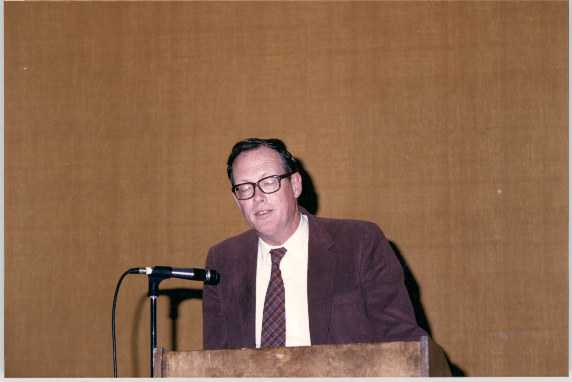 Photograph of Norman Olsen at a College of Charleston Event