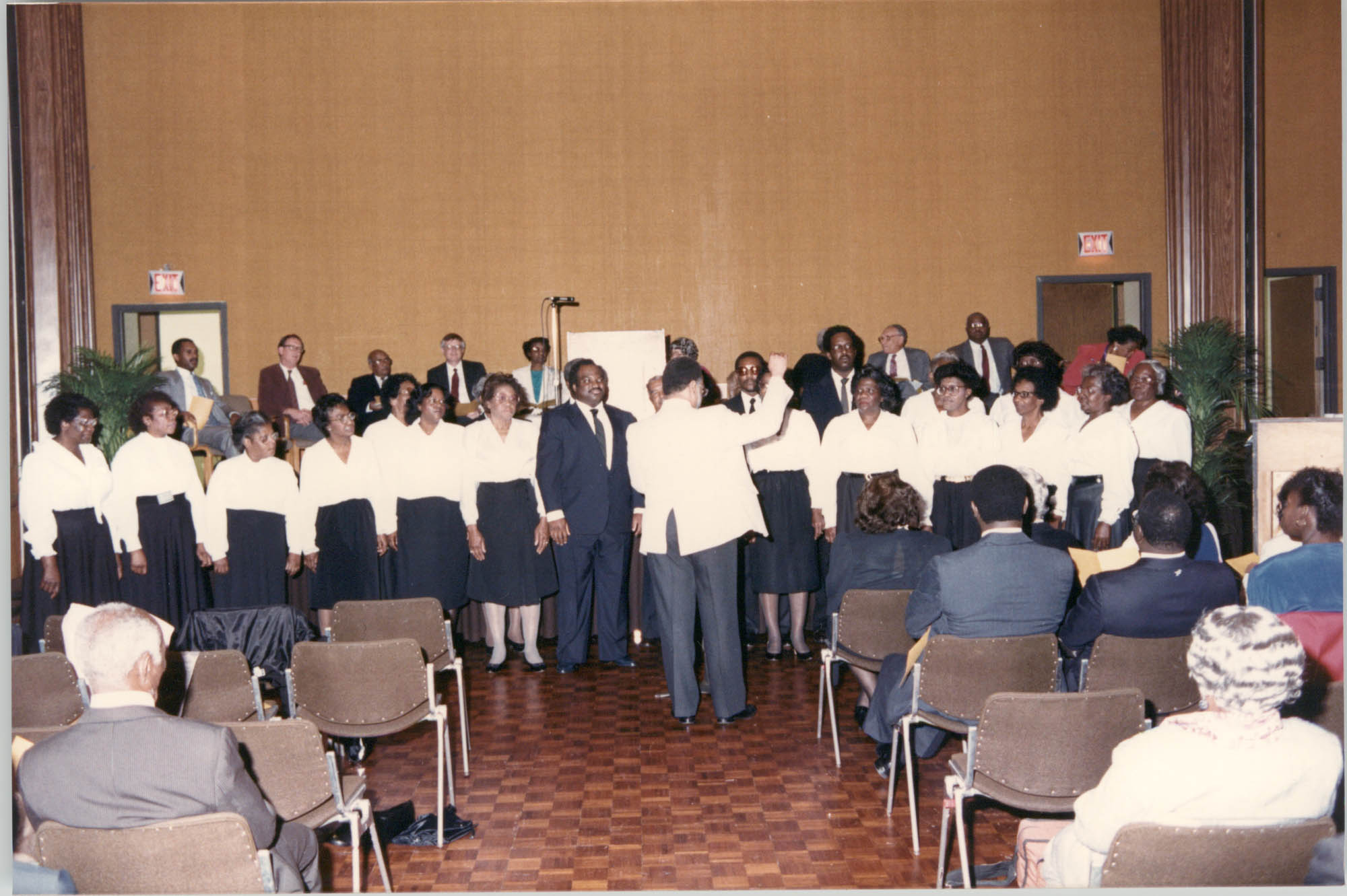 Photograph of the Martin Luther King Interdenominational Choir at a College of Charleston Event