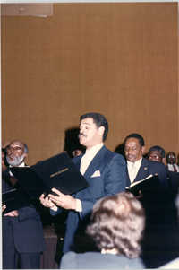 Photograph of the Omega Ensemble at a College of Charleston Event