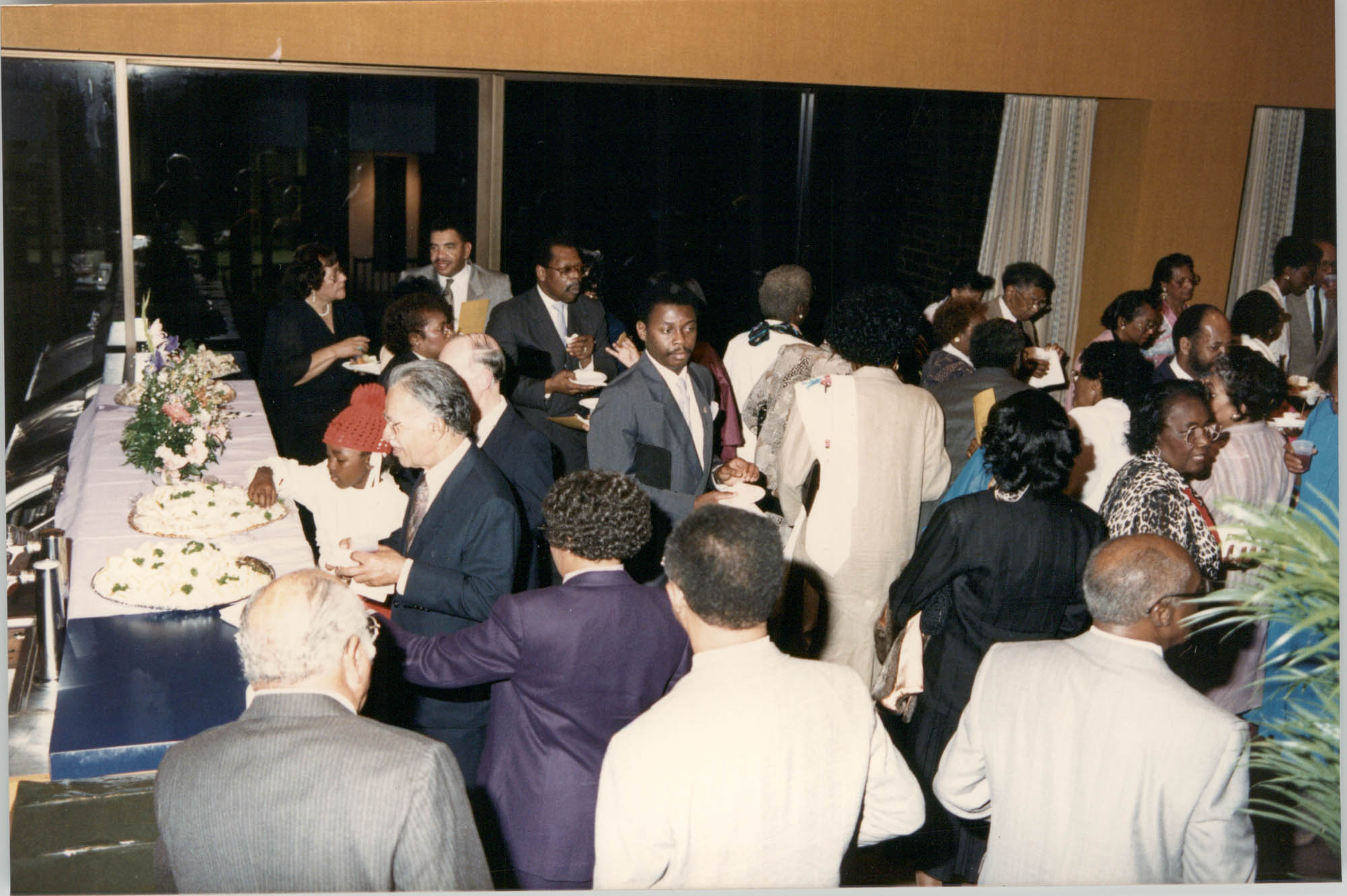 Photograph of a Group of People at a College of Charleston Event