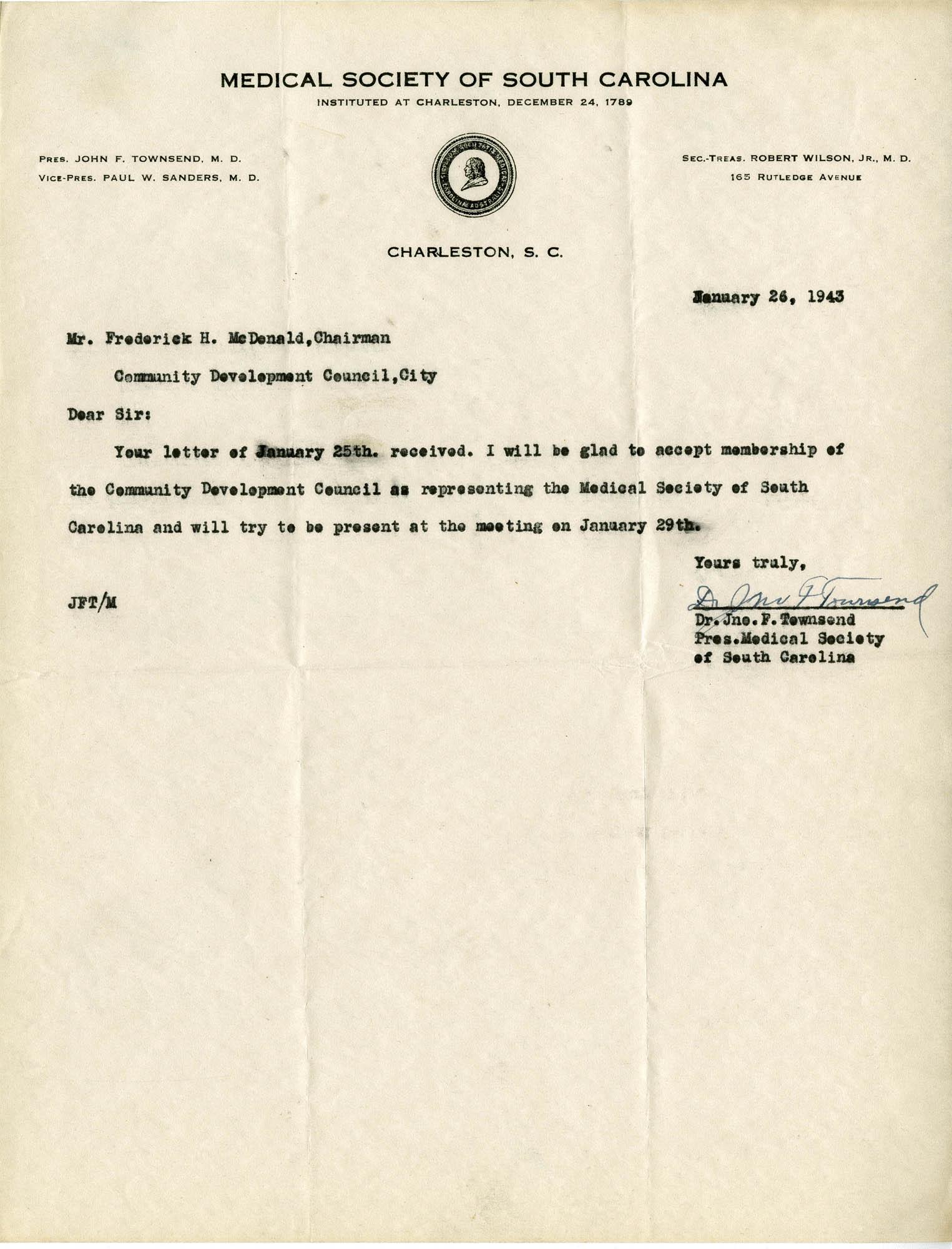 Folder 32: Townsend Letter