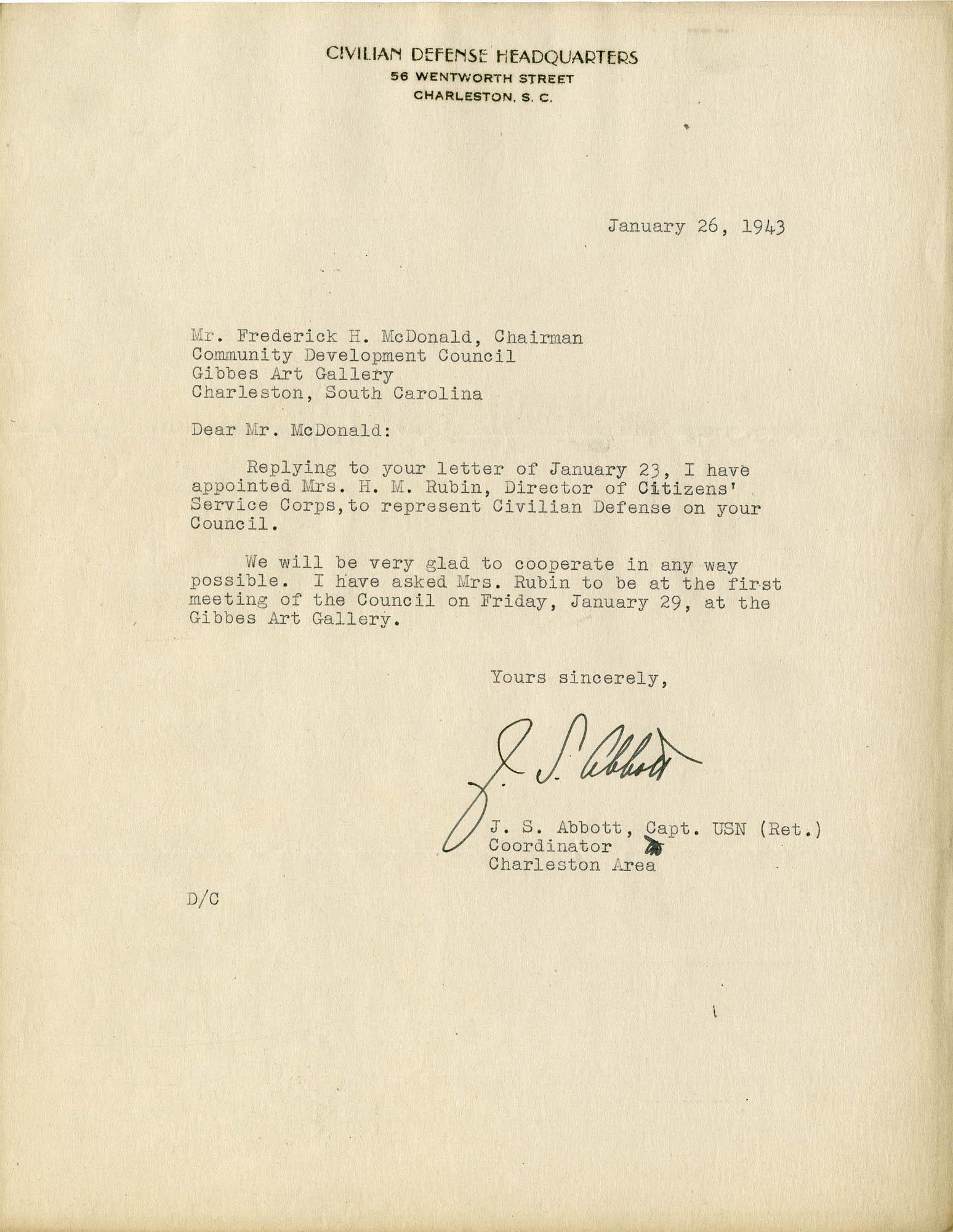 Folder 32: Abbott Letter