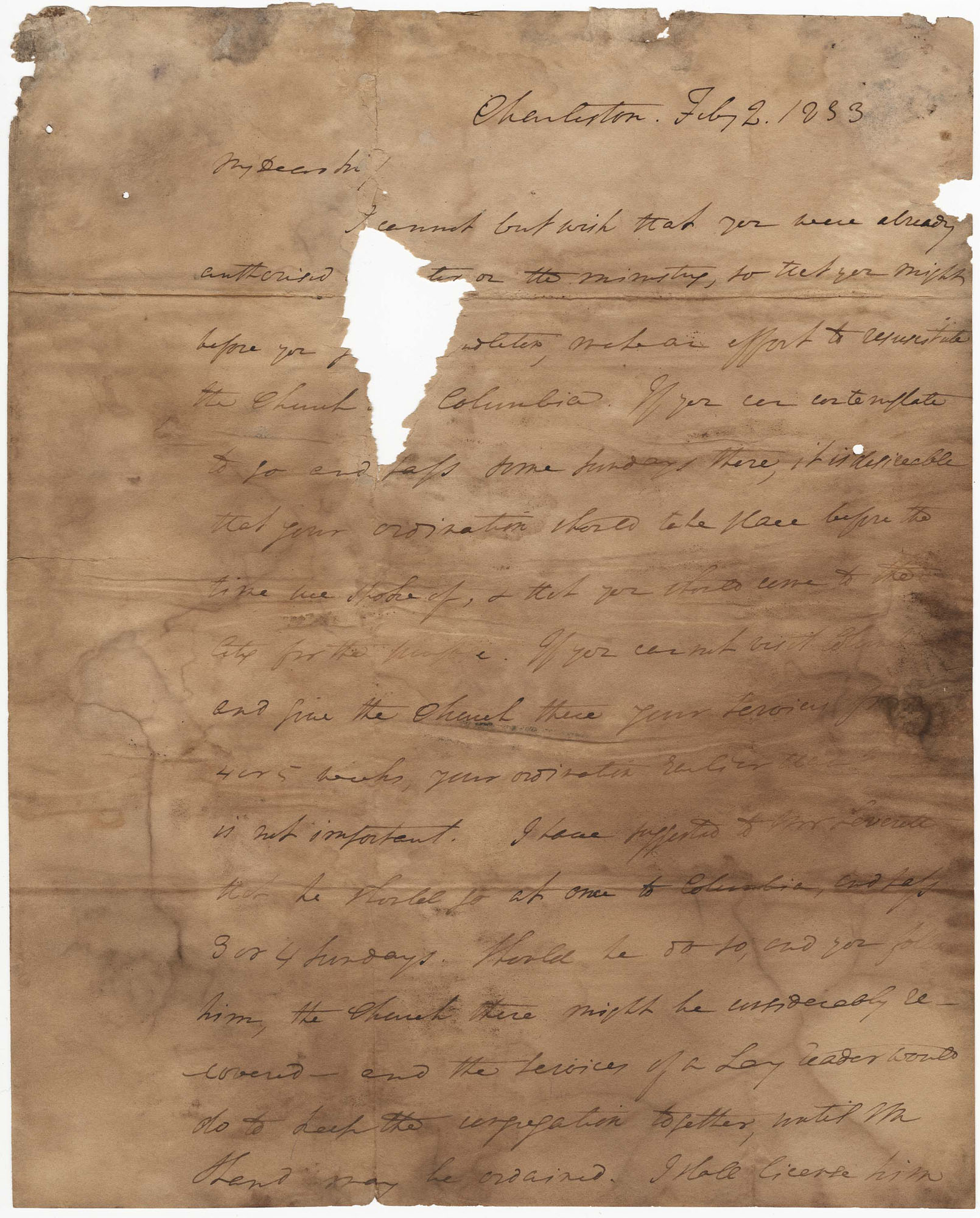 013.  Nathaniel Bowen to William H. W. Barnwell -- February 2, 1833