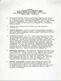 Minutes, South Carolina Conference of Branches of the NAACP, May 9, 1992