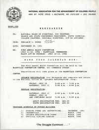 NAACP Memorandum, September 30, 1991