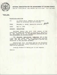NAACP Memorandum, May 31, 1990