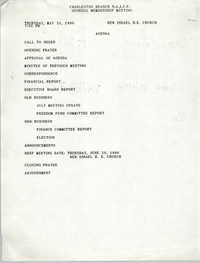 Agenda, General Membership Meeting of the Charleston Branch of the NAACP, May 31, 1990