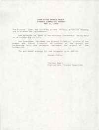 Charleston Branch of the NAACP Finance Committee Report, May 31, 1990
