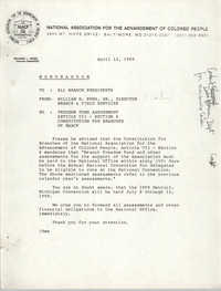 NAACP Memorandum, April 12, 1989