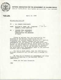 NAACP Memorandum, April 12, 1989