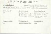 City of Charleston Memorandum, May 19, 1989