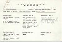 City of Charleston Memorandum, May 5, 1989