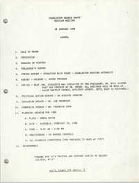Agenda, Charleston Branch of the NAACP, January 28, 1988