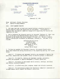 Charleston Branch of the NAACP Memorandum, February 19, 1987
