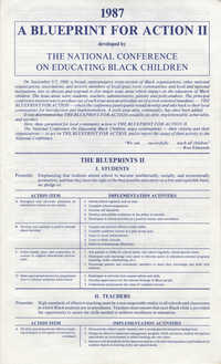 A Blueprint for Action II, 1987