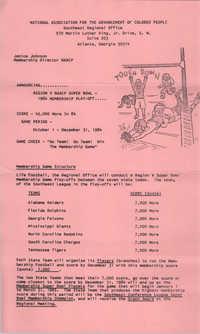 Region V NAACP Super Boal 1984 Membership Play-Off
