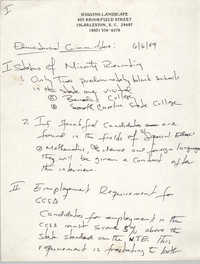 Minutes, Charleston Branch of the NAACP Educational Committee Meeting, June 6, 1989