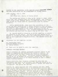 Minutes, Executive Board Meeting, Charleston Branch of the NAACP, June 6, 1989