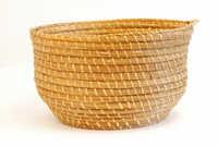 Bulrush waste basket (Bulrush hamper)