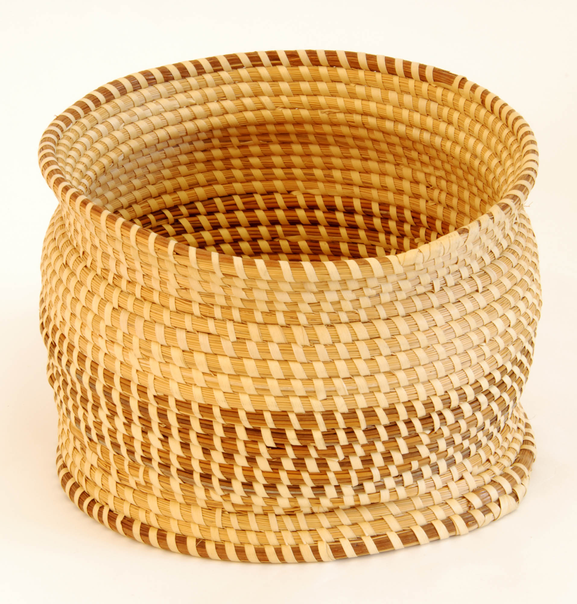 Sweetgrass waste basket