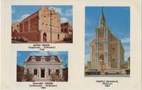 Curacao's three synagogues. Mikvé Israel (Sephardic - Orthodox), 1732. Temple Emanu-El (Reform), 1867. Shaarei Tsedek (Ashkenazic - Orthodox), 1959.