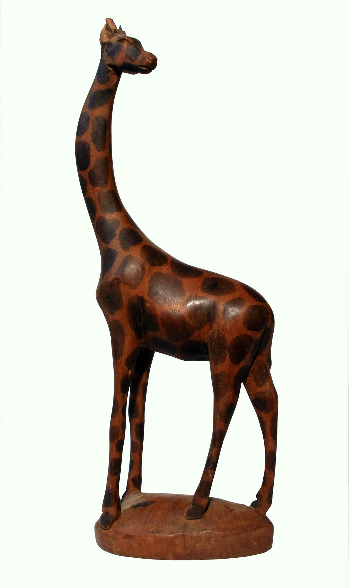 Wooden giraffe carving