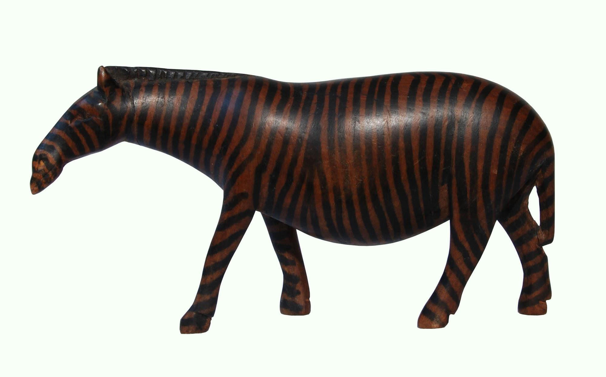 Wooden zebra carving