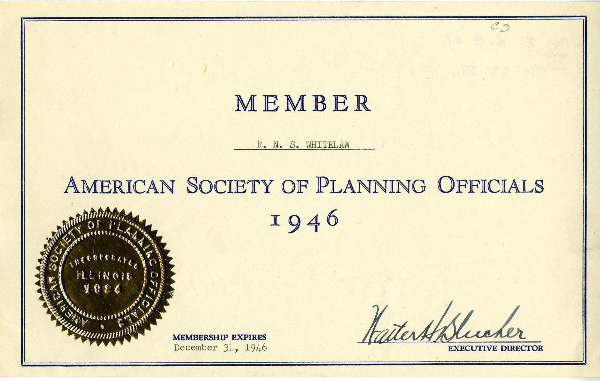 Folder 18: Membership Certificate 4