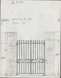 Meeting Street side/John Street gate