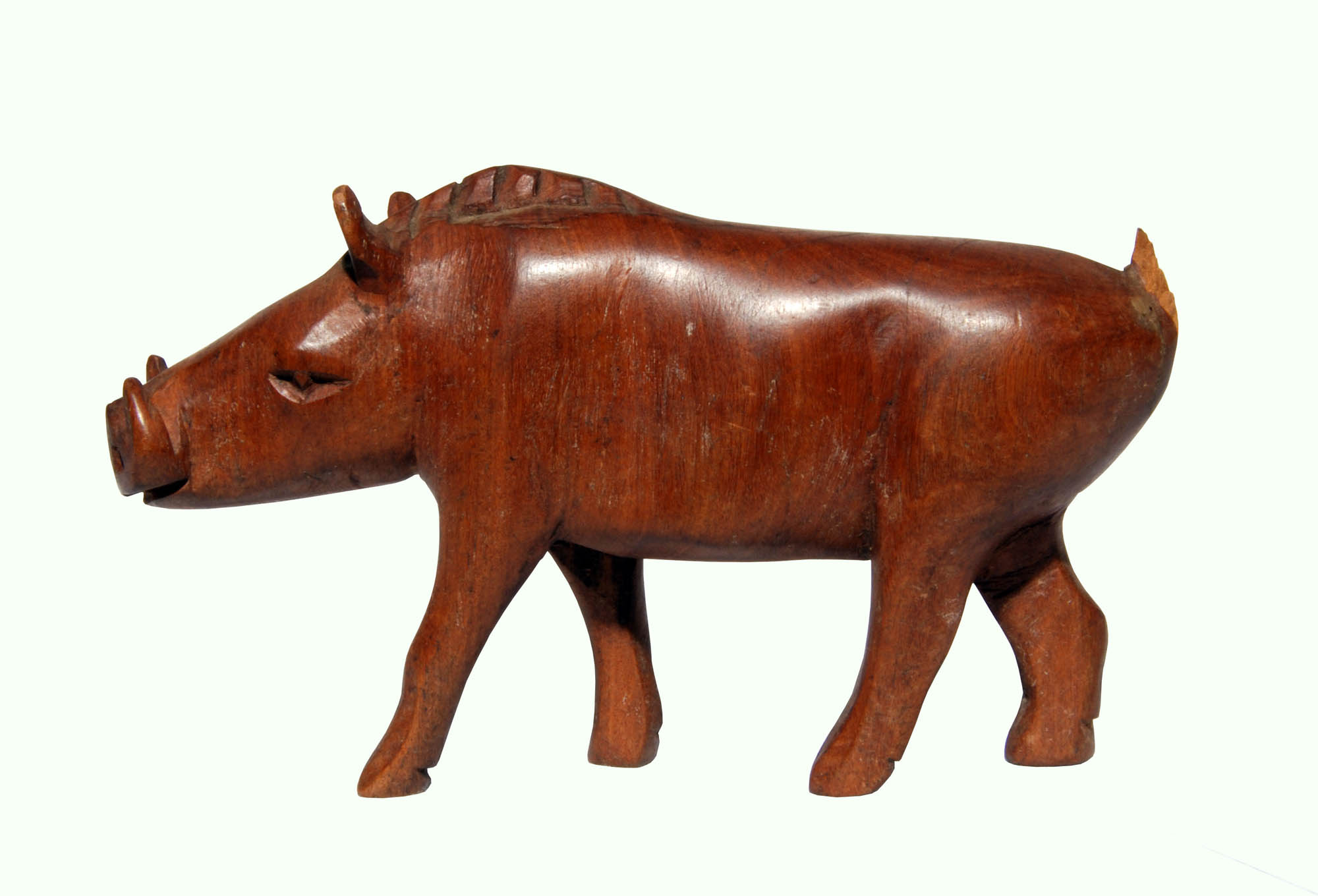 Wooden boar carving