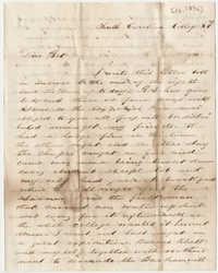 398.  Edward Barnwell to Elizabeth Barnwell -- 1850