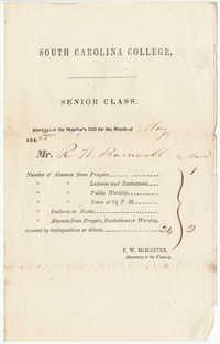 322.  Senior Class Monitor's bill -- May, 1850