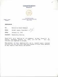 Charleston Branch of the NAACP Memorandum, January 22, 1991