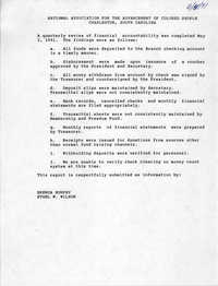 NAACP Quarterly Review Findings, May 2, 1991