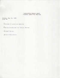 Charleston Branch of the NAACP Finance Committee Agenda, May 20, 1991