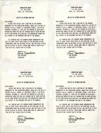 Charleston Branch of the NAACP Notice of October Meeting, October 27, 1988