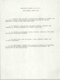 Charleston Branch of the NAACP General Objectives, 1989